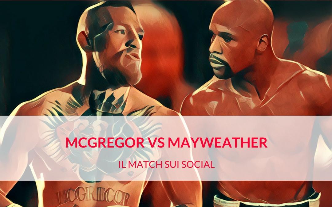 McGregor vs Mayweather: la sfida sul ring dei social