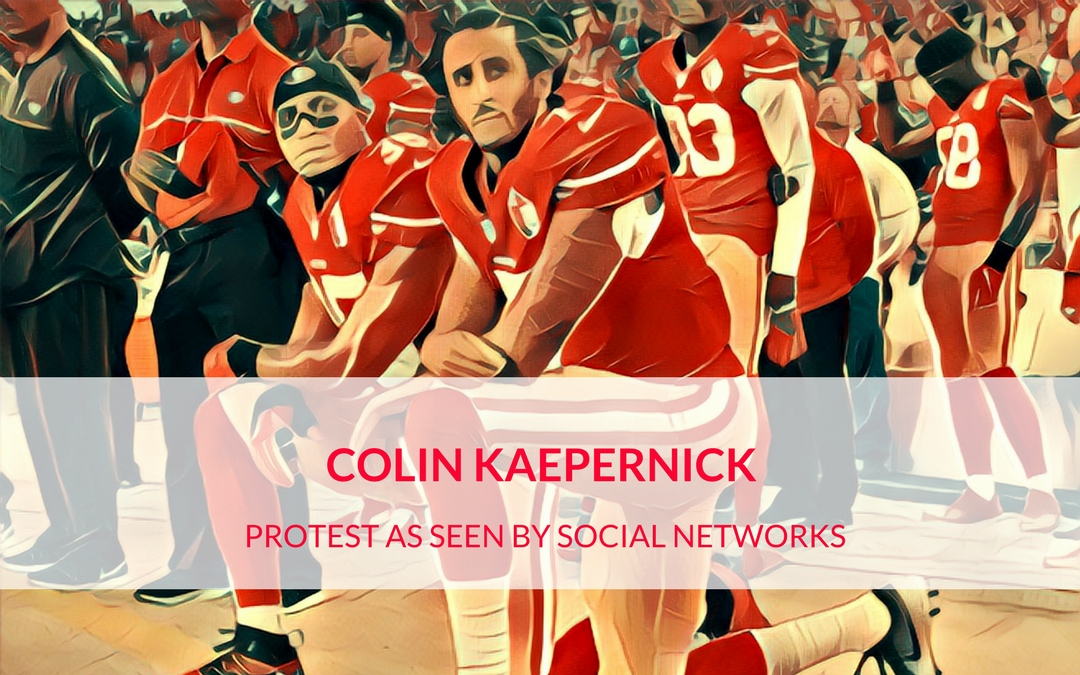 Colin Kaepernick protest as seen by the American Social Networks